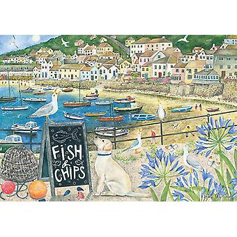 Otter House Fish 'N' Chips Jigsaw Puzzle (1000 Pieces)