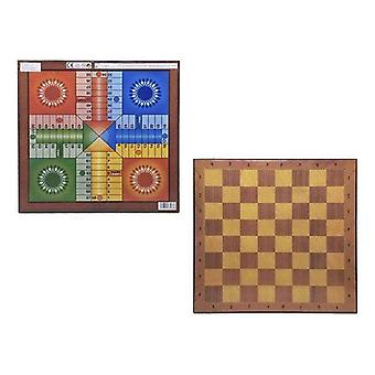 Parchís, Chess and Checkers Board