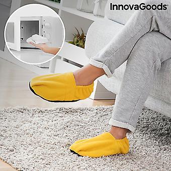 Microwavable Verwarmde Pantoffels InnovaGoods Mosterd