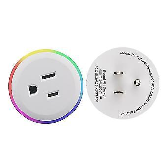 واي فاي الذكية التوصيل RGB اللاسلكية مقبس الطاقة الذكية الحياة / tuya التطبيق التحكم عن بعد