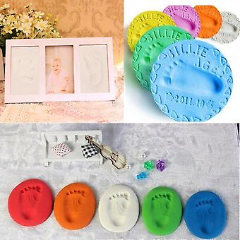 Infant Baby Kids Handprint Footprint Clay Special Baby Diy Air Drying Clays