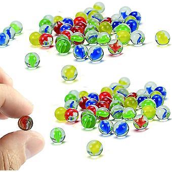Kleine Glasmurmeln 100PCS Bunte Murmeln Klare Glasmurmeln Geeignet zum Spielen von Marmorwild und
