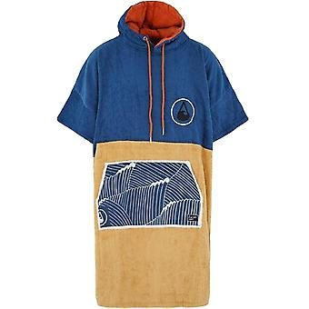 Wave Hawaii Unisex Adults Flow Beach Surf Hooded Changing Towel Poncho - Blue