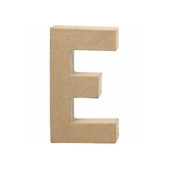 20,5cm papel grande Mache Letra E | Formas de Papel Mache