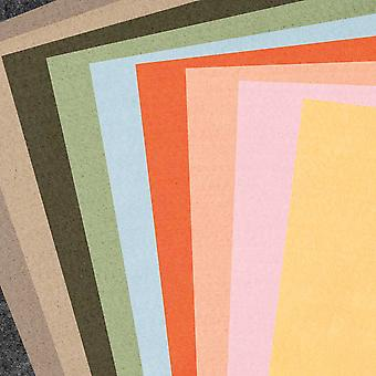 10 Assorted Sheets of A4 Nature Coloured Craft Felt - 1mm Thick