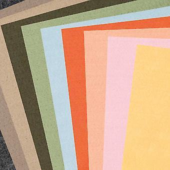 10 olika ark av A4 naturfärgad hantverksstå - 1mm tjock