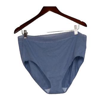 Breezies Kvinders Underbukser Plus Bomuld Solid Blue