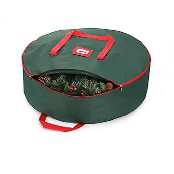 Christmas Wreath Storage Bag, Holiday Xmas Tear-resistant Storage Container 600d Oxford Fabric