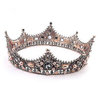 Свадебная корона оголовье Бронзовая корона Свадебные головные уборы ювелирные изделия