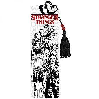 Stranger Things Tegn sort og hvid linje Art Bogmærke