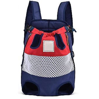 Prodyšný mesh boční zip plátěný batoh pro kočky