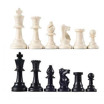 32шт пластиковые шахматные фигуры полные шахматы международные слова шахматы набор черно-белые шахматы фигура развлекательная аксессуары