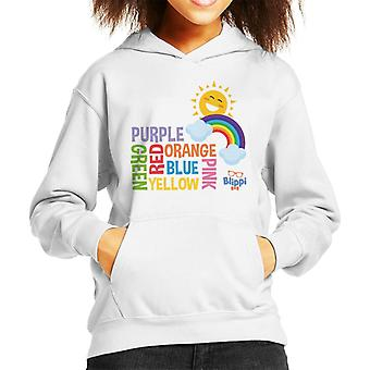 Blippi Colours Of The Rainbow Kid's Hooded Sweatshirt