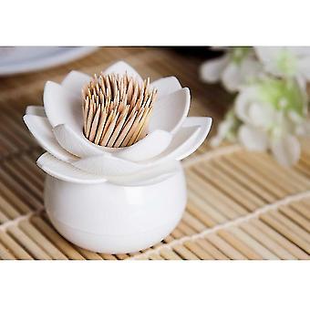 Lotus Flower Design-toothpicks Holder Case