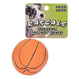 """Rascals Latex Baskethund Leksak - 2,5"""" Diameter"""