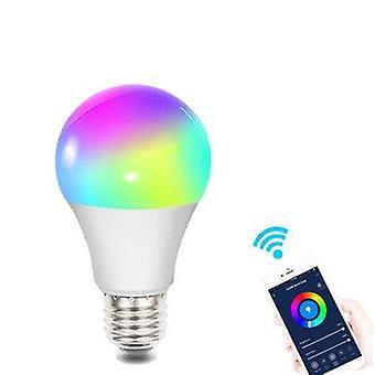 Smart wifi e27 e26 b22 bulb rgb+cw+ww ac110/220v supports alexa google home voice control app control
