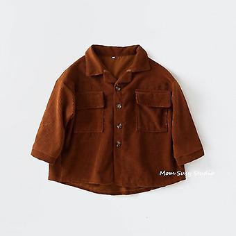 Fashion Baby Corduroy Shirt Jacket