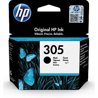 HP 305 Original Black Ink Cartridge, Standard Yield, Pigment-Based Ink, 2