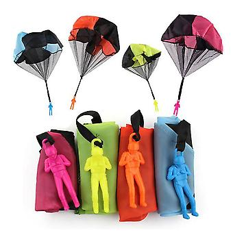 Children's Outdoor Toy Parachute Toy, Hand-launched Parachute (4 Pieces)