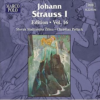 J. Strauss - Johann Strauss I Edition, Vol. 16 [CD] USA import