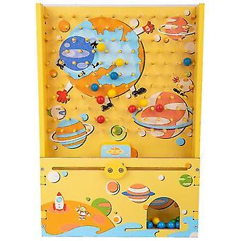 Kinder Schnellfang Baby Holz Lernspiel Hand-Auge Koordination Eltern-Kind Eltern-Kind Interaktives Spielzeug-(gelb)