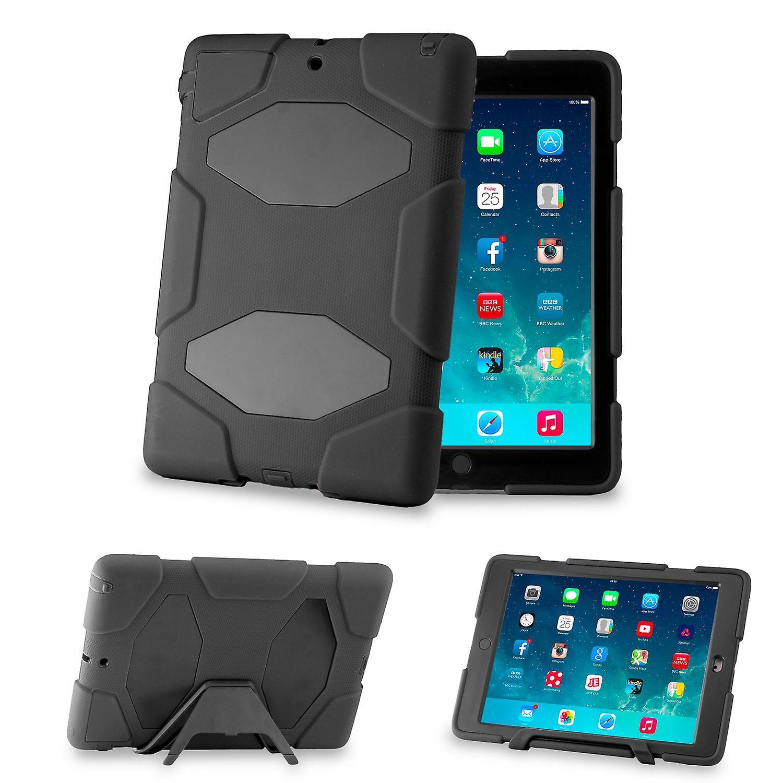 Defender Hard Shock Proof Triple Case Cover For Apple iPad Mini - Black