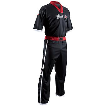 Hayabusa Winged Strike Karate Uniform - Black - kimono taekwondo