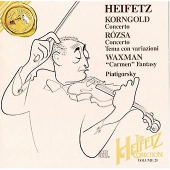 ヤッシャ ・ ハイフェッツ - コルンゴルト: 協奏曲;R Zsa: 協奏曲;件名コン フランス;ワックスマン: カルメン幻想曲 [CD] アメリカ インポートします。