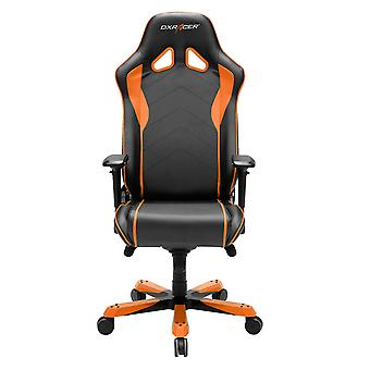 DX Racer DXRacer OH/SJ08/NO High-Back Gaming Chair PU Executive Desk Chair(Black/Orange)