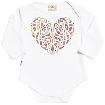 Spoilt Rotten Warm Mixed Heart Organic Baby Grow