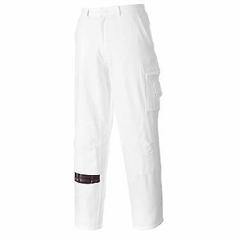 Portwest - 画家耐久性作業服吸水性 100% 綿貨物ズボン