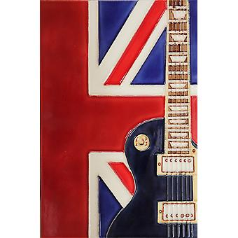 "YH Arts Ceramic Wall Art, UK Music 8 x 12"""