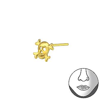 Skull - 925 Sterling Silver Nose Studs - W33471X