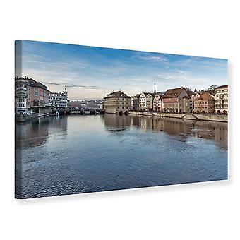 Canvas Print Cosmopolitan Zurich
