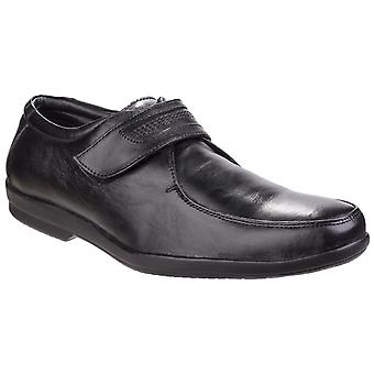Fleet & Foster Mens Jim Apron Toe Black