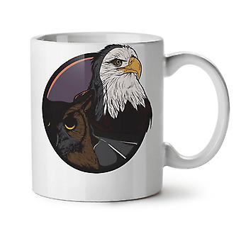 Eagle Owl Animal Fashion NEW White Tea Coffee Ceramic Mug 11 oz | Wellcoda