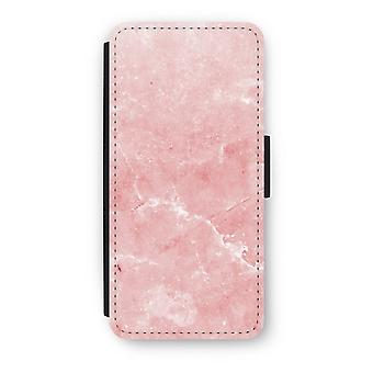 iPhone 5c Flip Case - rosa Marmor