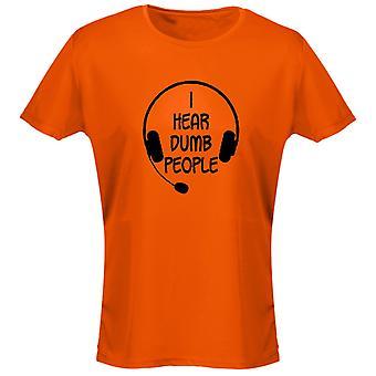 Jag hör dumma människor Womens T-Shirt 8 färger (8-20) av swagwear