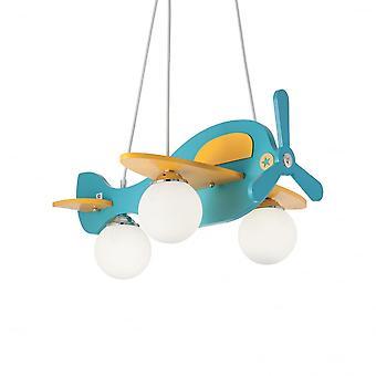 Ideal Lux Avion niños dormitorio novedad avión luz, de color azul claro