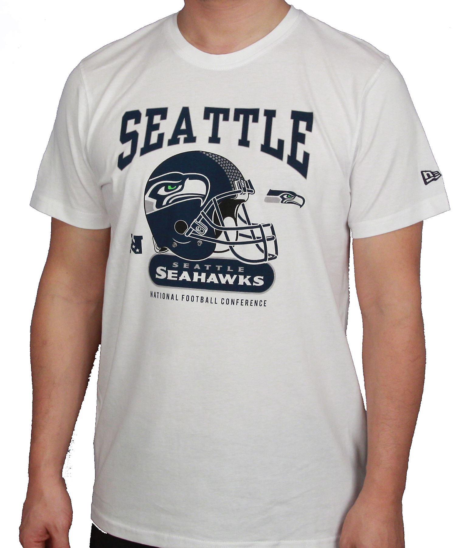 New Era and NFL Helmet Classic T-Shirt ~ Seattle Seahawks