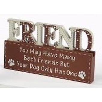 Dog Word Block - Friend by Langs