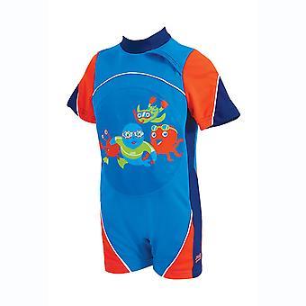 Zoggs Kids Costume da bagno blu/rosso per 1-6 anni resistente al cloro
