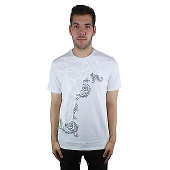 Versace colección V800683S VJ00267 V7001 blanco t-shirt