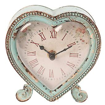 Sass & Belle Boudoir Heart Clock Duck Egg