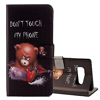 Pocket wallet motif 31 for Samsung Galaxy touch 8 N950 N950F sleeve case pouch cover protection
