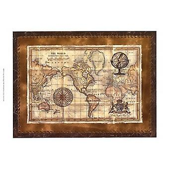 Antique World Map Poster Print by Vision studio (19 x 13)