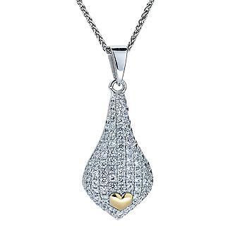 Orphelia Silver 925 hänge med kedja och guld pläterad zirkonium ZH-4880