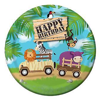 Ζούγκλα Ralley πλάκα 23x8 κομμάτια Παιδικά γενέθλια θέμα πάρτι γενέθλια