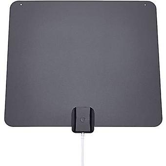 Oehlbach XXL® Razor Flat DVB-T/T2 active planar antenna Indoors Black/grey