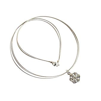 Necklace snowflake silver necklace 925 Silver flakes with heart pendant